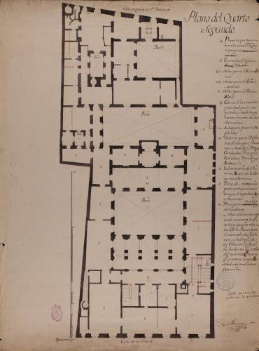 Planta segunda del Palacio de Goyeneche para sede de la Real Academia de San Fernando