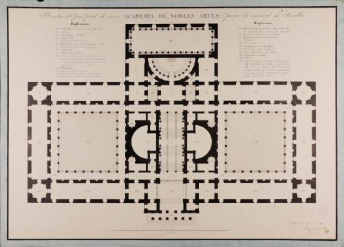 Planta principal de una Academia de nobles artes para Sevilla