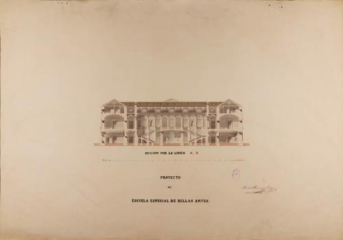 Sección AB de una escuela especial de Bellas Artes