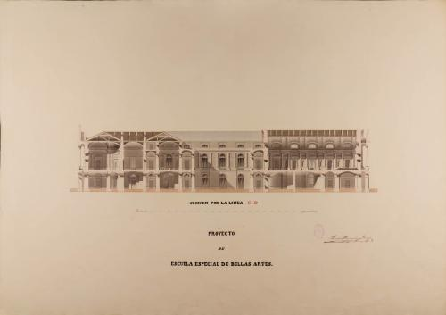 Sección CD de una escuela especial de Bellas Artes