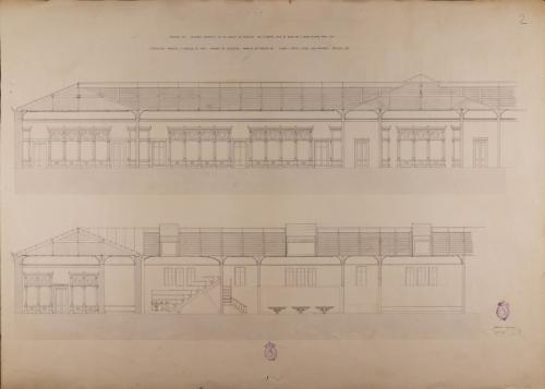 Sección de un museo anatómico en un colegio de medicina