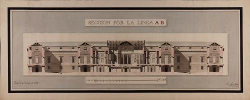 Sección AB. de una biblioteca pública