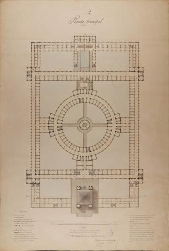 Planta principal de una cárcel civil y correccional en San Sebastián, para uso de las 191 provincias vascongadas