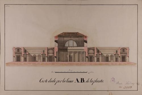 Sección AB de una casa de contratación para Tarragona