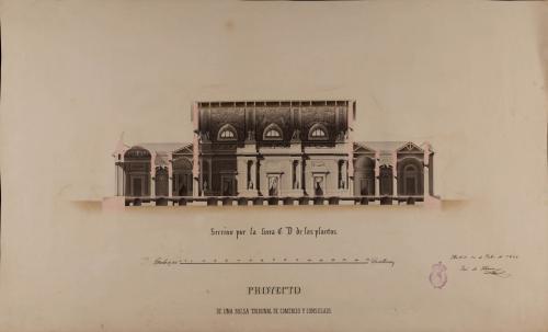 Sección CD de una Bolsa, tribunal de comercio y consulado