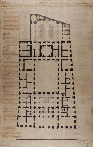 Planta baja de la casa palacio del marqués de Astorga, conde de Altamira
