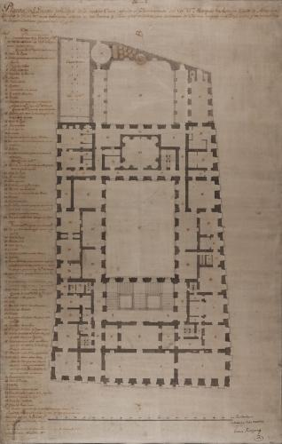 Planta principal de la casa palacio del marqués de Astorga, conde de Altamira