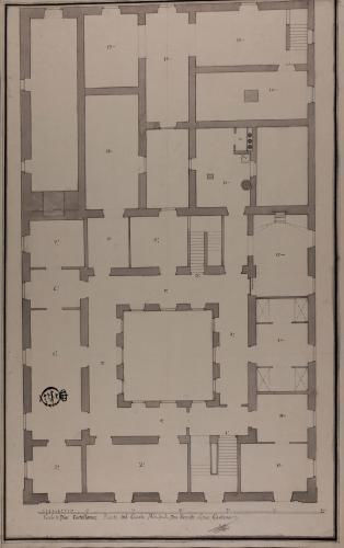 Planta principal de una casa para un señor hacendado, con oficinas de labor