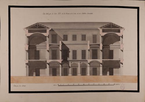 Sección AB de una casa de un caballero hacendado