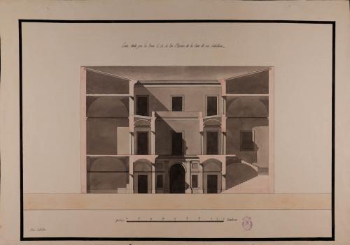 Sección CD de una casa de un caballero hacendado