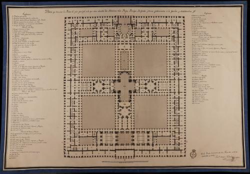 Planta principal de un palacio real