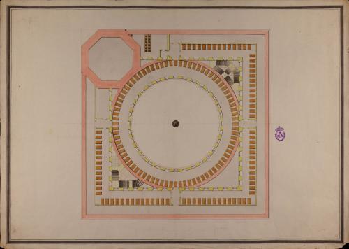 Planta de los dormitorios de los colegiales militares en el palacio de Carlos V en la Alhambra