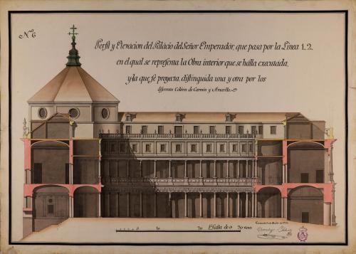 Sección 1.2. del palacio de la Carlos V en la Alhambra