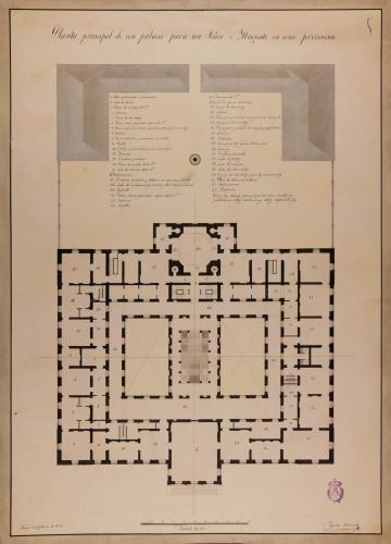 Planta principal de un palacio para un señor o magnate en una provincia