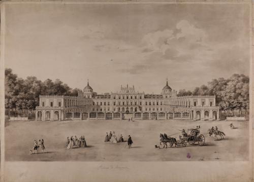 Vista panorámica del palacio de Aranjuez