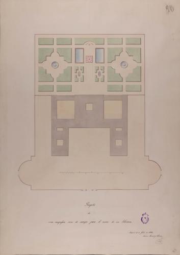 Planta general de casa de campo para el recreo de un soberano