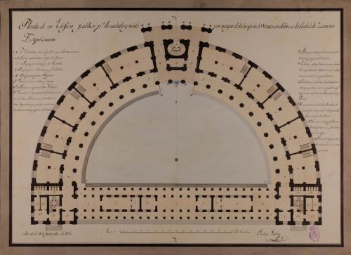 Planta de un edificio público con destino a Zamora, para la custodia y venta al por mayor de toda especie de víveres