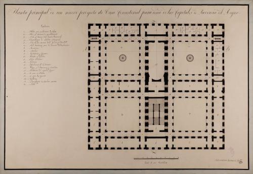 Planta principal de una casa consistorial para una de las capitales de provincia del Reino
