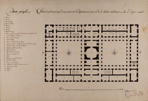 Planta principal de una casa de ayuntamiento para una de las ciudades subalternas del reino