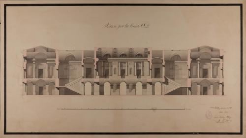 Sección CD. de una casa de ayuntamiento y diputación provincial
