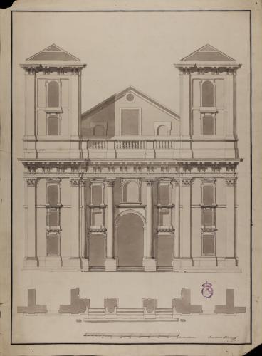 Fachada de la iglesia del Colegio Imperial de Madrid