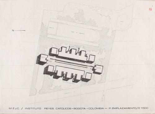 Instituto Reyes Católicos de Bogotá (Colombia).  Plano de emplazamiento