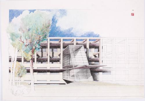 Campus Montepríncipe San Pablo-CEU. Acceso principal al edificio Politécnico