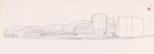 Propuesta de remodelación del conjunto de la fábrica de cervezas Mahou, Madrid. Esquema planimétrico de la tipología de vivienda y ordenación de los conjuntos interiores