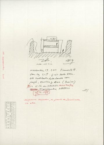 Sede del Consejo Consultivo de Castilla y León en Zamora. Croquis resumen, a punto de terminarse la obra.