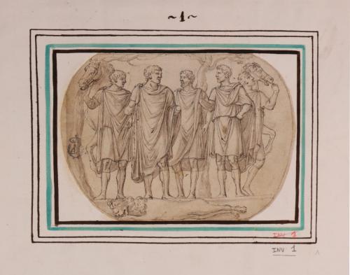 Copia de relieve romano del arco de Constantino