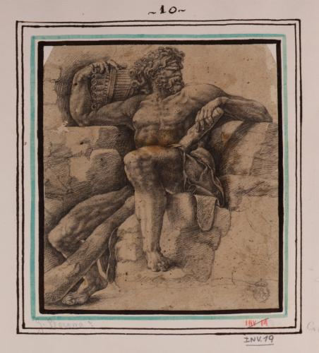 Estudio de Polifemo sentado