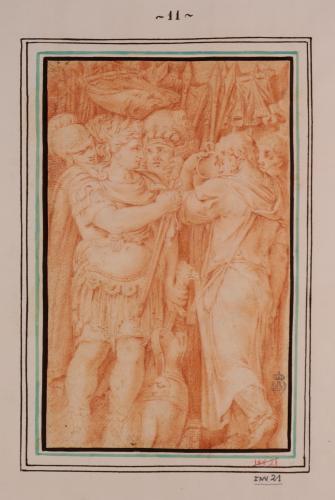 Estudio de Cayo Fabricio Luscino rechazando los regalos de Pirro de Epiro