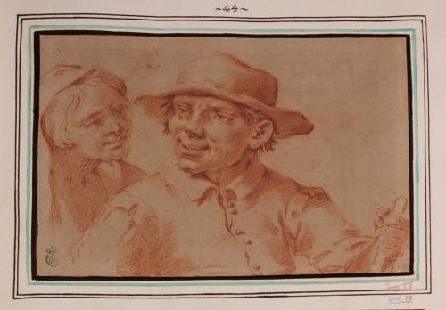 Estudio de cabezas de joven y anciana