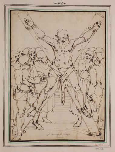 Estudio de la crucifixión de San Andrés