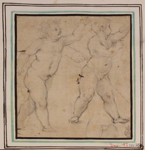 Estudio de dos niños desnudos