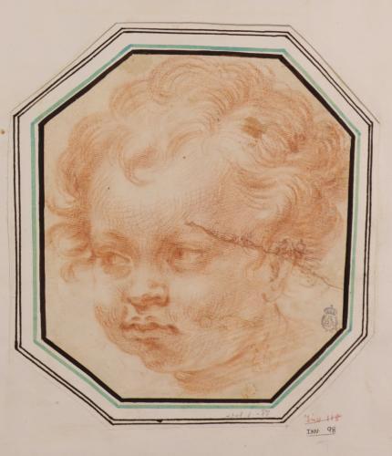 Estudio de cabeza de niño tres cuartos hacia la izquierda