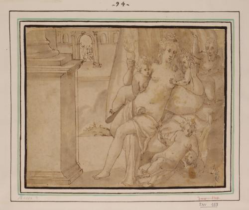 Estudio de Venus rodeada de amorcillos