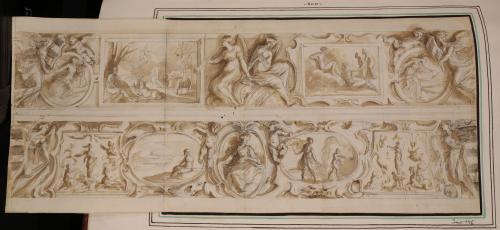Estudio para friso decorativo con escenas de la mitología clásica