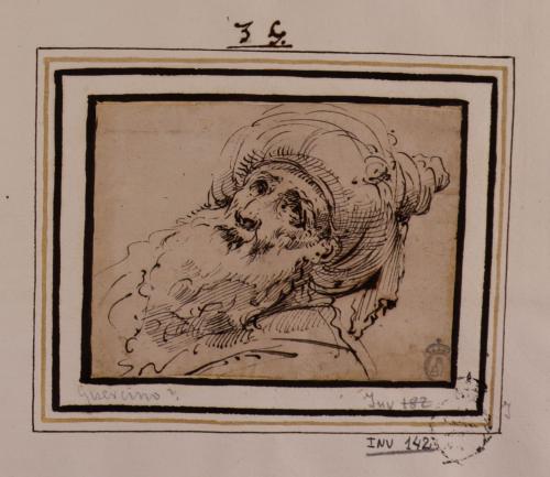 Cabeza de anciano con turbante