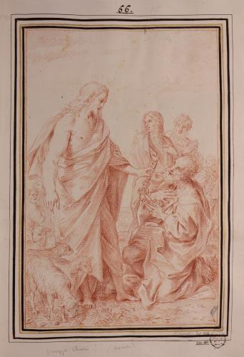 Estudio de Cristo entregando las llaves a San Pedro