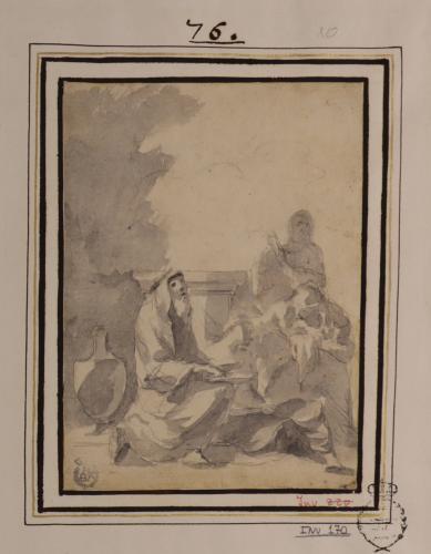 Anciano sentado con varias mujeres