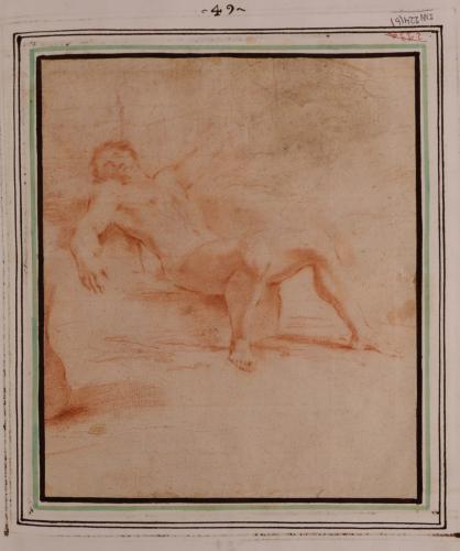 Estudio de hombre desnudo recsostado