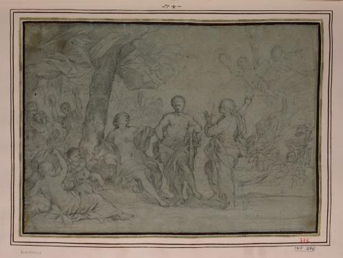 Estudio de la elección de Hércules o Hércules entre el Vicio y la Virtud