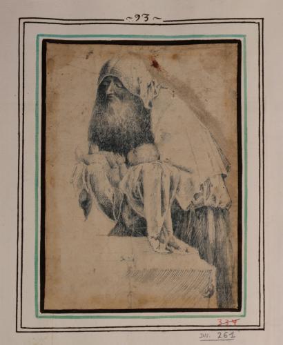 Estudio de Simeón con el Niño Jesús en brazos
