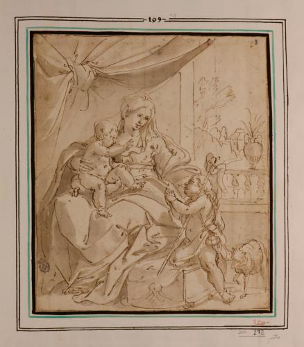 Estudio de la Virgen con el Niño y San Juanito
