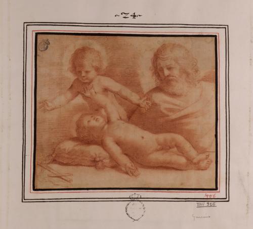 Estudio de San José el Niño Jesús y San Juanito