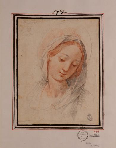 Estudio de cabeza de la Virgen