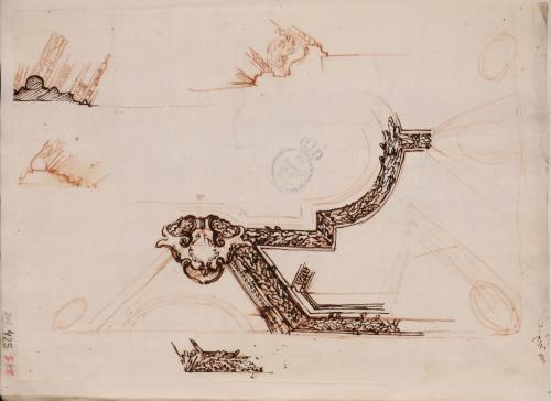 Apuntes para las molduras de estuco del techo del Palacio Altieri.