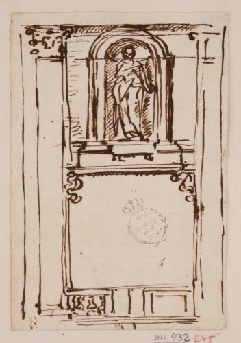 Estudio para una tumba o altar
