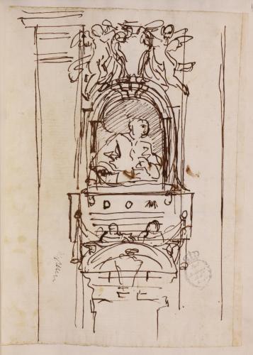 Apunte para un monumento funerario de un Cardenal